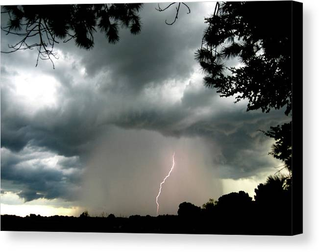 Thunderstorms Canvas Print featuring the photograph Dark Skies by Garry Turpin