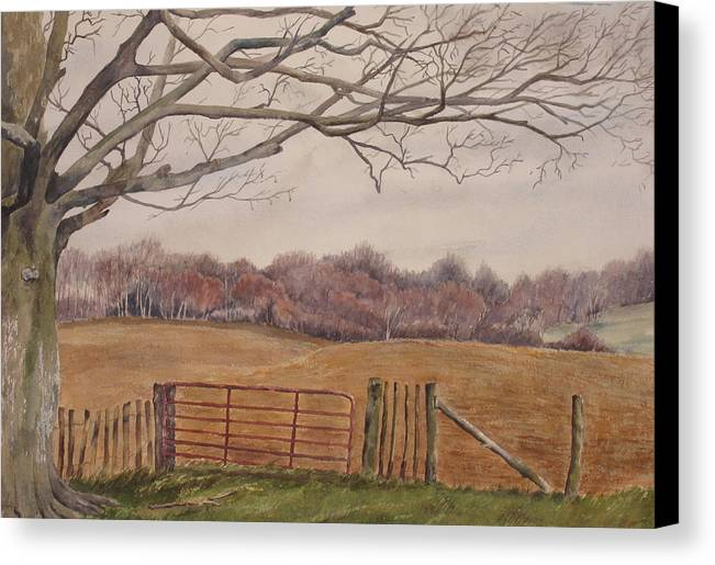 England Canvas Print featuring the painting Shelter by Debbie Homewood