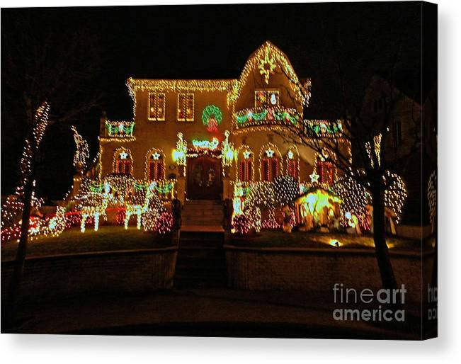 Christmas Lights Canvas Print featuring the photograph Waiting For Saint Nick by Kendall Eutemey