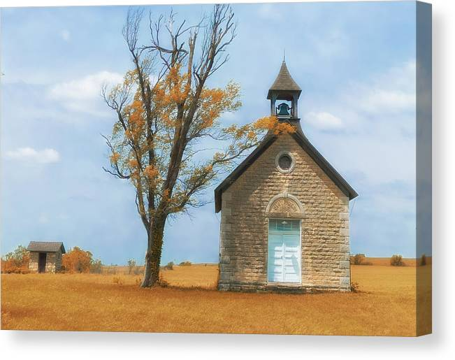 Bichett Canvas Print featuring the photograph Autumn On The Prairie by Josh Spengler