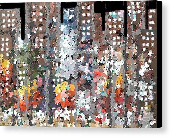 Abstract Canvas Print featuring the painting A Night In Chicago by Don Phillips
