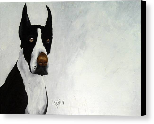 Canvas Print featuring the painting Great Dane by Dick Larsen