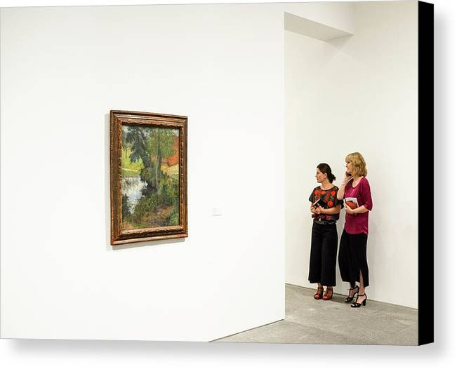 Women Canvas Print featuring the photograph Observers by Dani Pozo