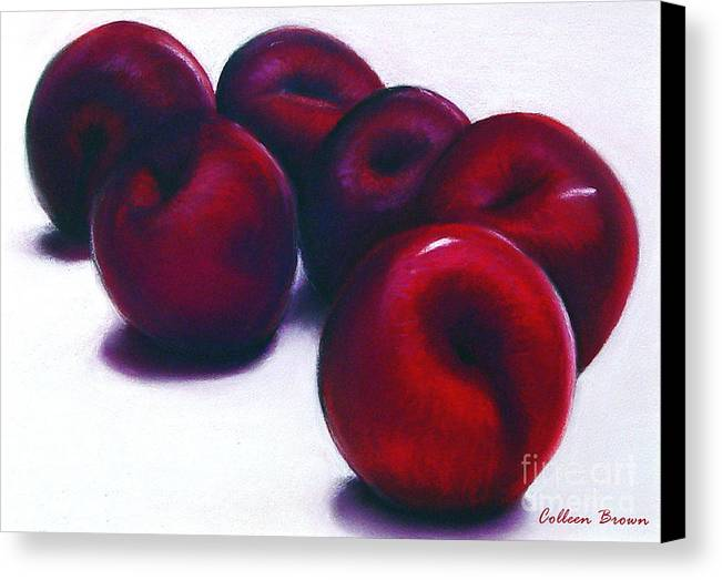 Still Life Canvas Print featuring the painting Plum Crazy by Colleen Brown
