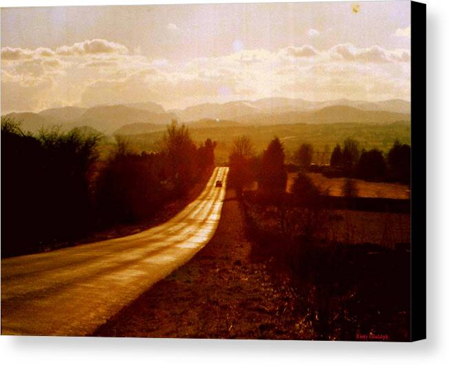 English Landscape Canvas Print featuring the photograph The Long And Lonely Road....... by Rusty Woodward Gladdish