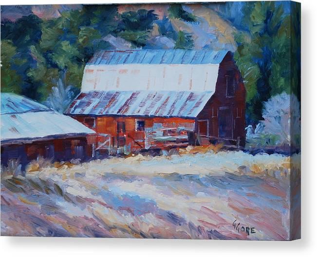 Barn Canvas Print featuring the painting Cedar Hill Barn by Gary Gore