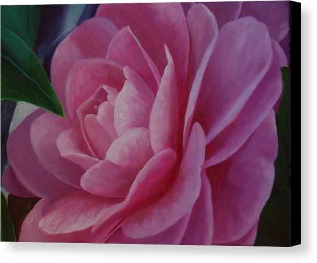 Flower Canvas Print featuring the painting California Rose by Marilyn Tower