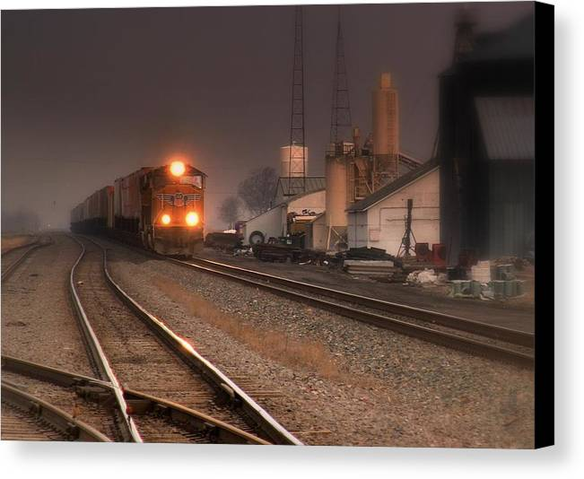 Trains Canvas Print featuring the photograph Dream Train.. by Al Swasey