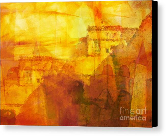 Morocco Canvas Print featuring the painting Morocco Impression by Lutz Baar