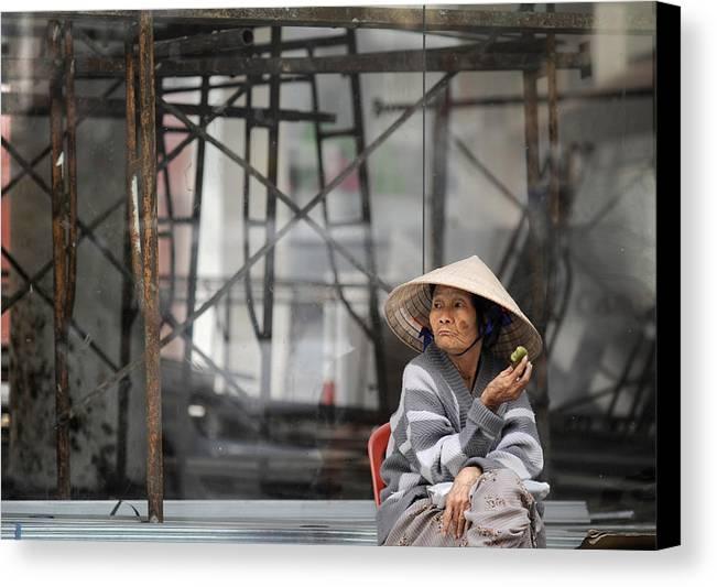 Vietnam Canvas Print featuring the photograph Saigon Lady by Rafa Rivas