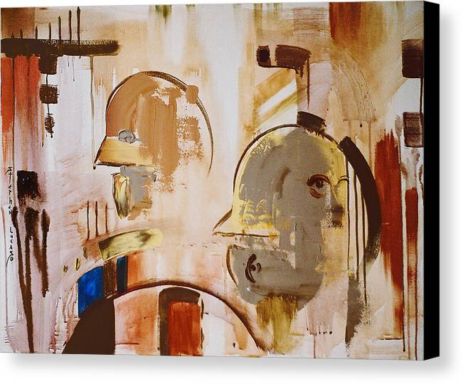 Abstract Canvas Print featuring the painting What Is Identity by Stephen Lucas