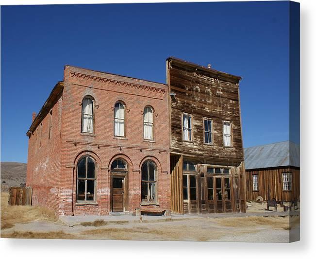 Bodie Canvas Print featuring the photograph Bank Of Bodie by Rick Repp