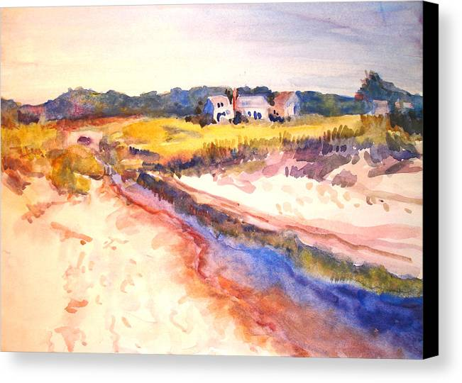 Landscape Canvas Print featuring the painting Cole Brook by Joyce Kanyuk