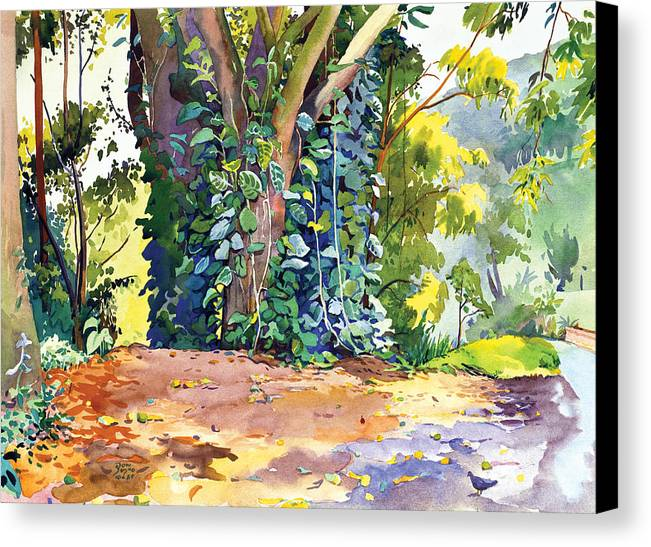 Don Jusko Canvas Print featuring the painting Hana Ivy/vine Tree by Don Jusko