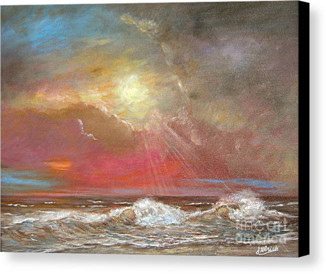 Ocean Canvas Print featuring the painting After The Rain Sold by Jeannette Ulrich
