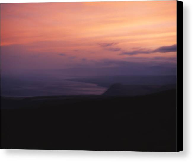 Sunset Canvas Print featuring the photograph At Sundown by Ayesha Lakes