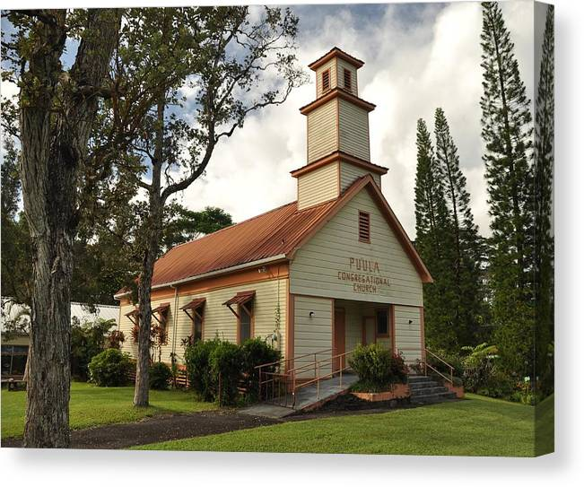 Canvas Print featuring the photograph Pu'ula Congregational Church - Nanawale by Steven Rice