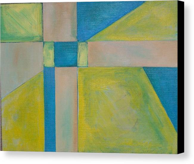Acrylic Painting Canvas Print featuring the painting Untitled by Michael Darpino