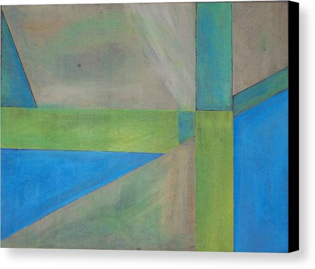 Acrylic On Canvas Canvas Print featuring the painting Untitled by Michael Darpino