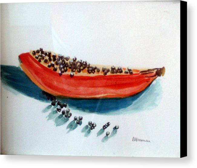 Still Life Canvas Print featuring the painting Exodus by Lia Marsman