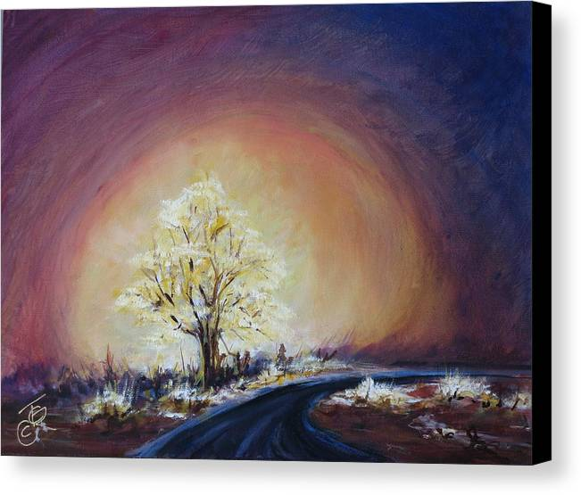 Mystic Canvas Print featuring the painting Glow by Thomas Restifo