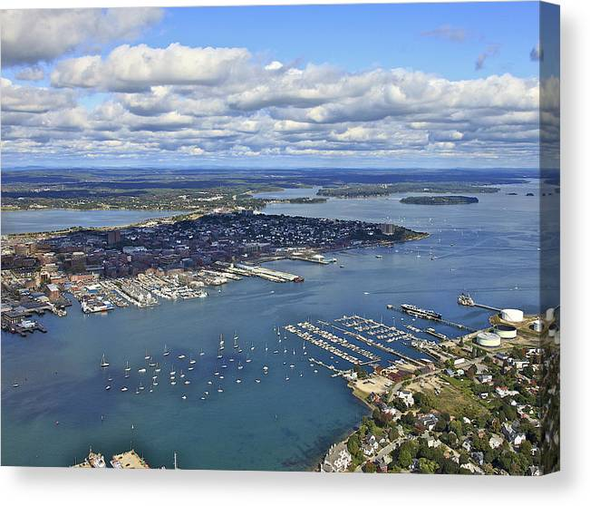 America Canvas Print featuring the photograph Port Of Portland, South Portland by Dave Cleaveland