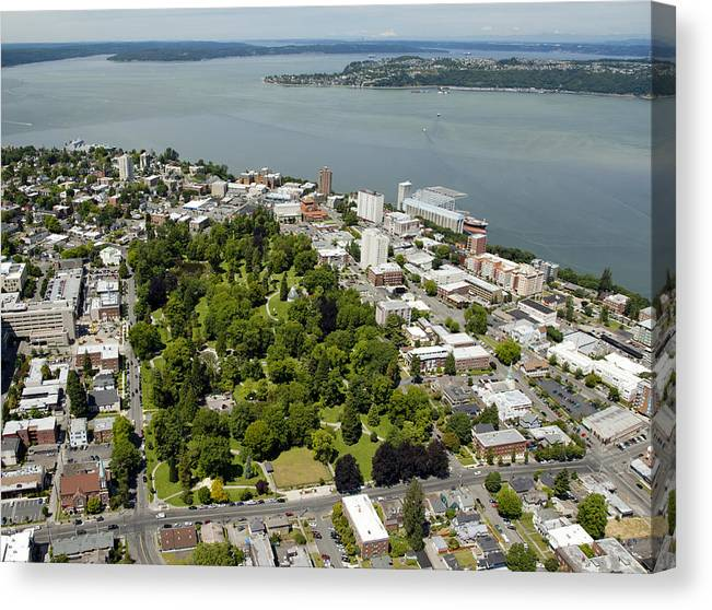 America Canvas Print featuring the photograph Wright Park, Tacoma by Andrew Buchanan/SLP