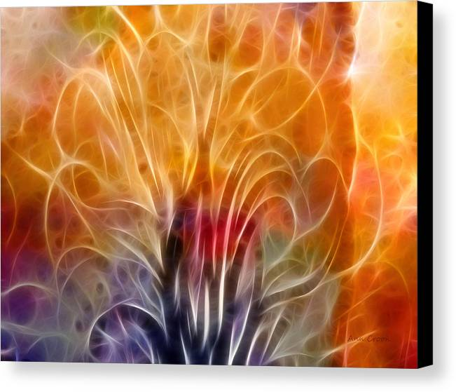 Abstract Canvas Print featuring the digital art Tree Of Life by Ann Croon