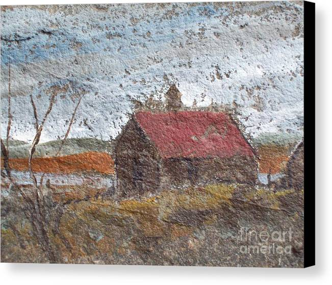 Storm. Clouds Canvas Print featuring the painting Approaching Storm by Norman F Jackson