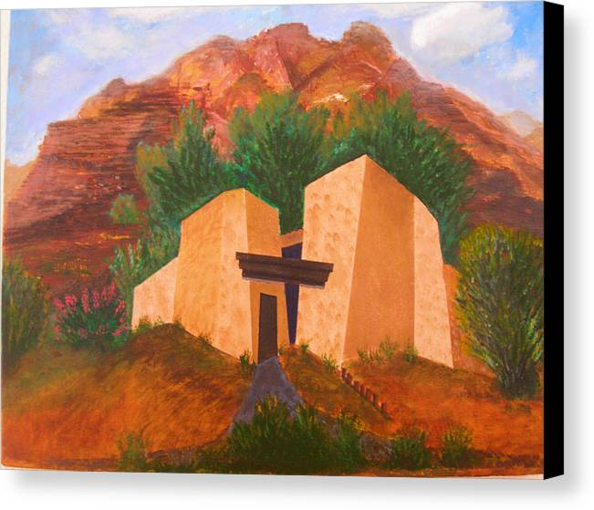 Landscape Canvas Print featuring the painting Casa De Pax Y Bueno by Jack Hampton