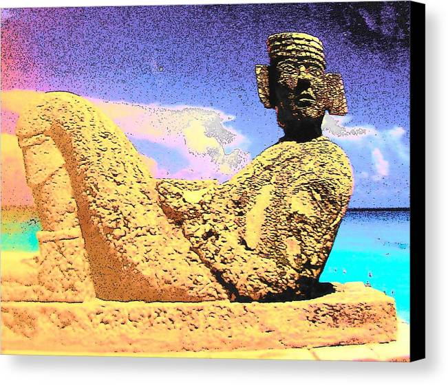 Chac Mool Canvas Print featuring the photograph Chac Mool by Mark Cheney