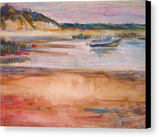 Landscape Canvas Print featuring the painting Cole Brook Bay by Joyce Kanyuk