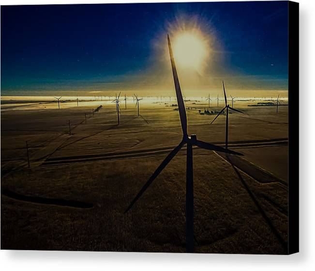 Twin Groves Canvas Print featuring the photograph Early Morning Flight 1 by Jim Finch