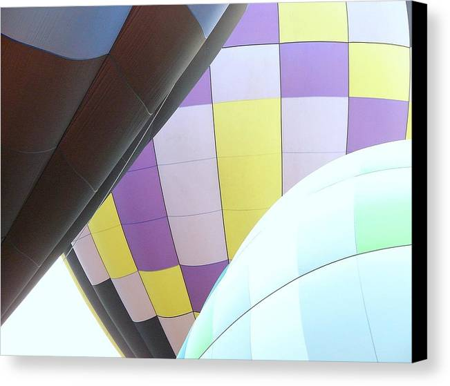 Balloons Canvas Print featuring the photograph Hot Air Rising by J R Seymour