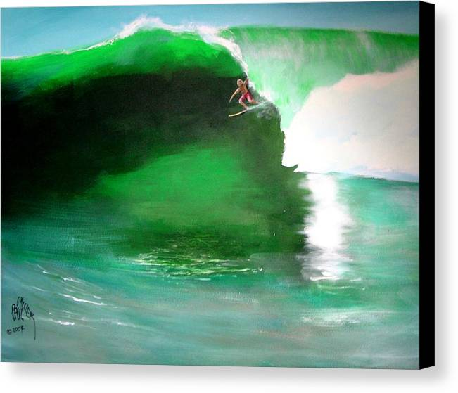 Surf Canvas Print featuring the painting Pat Connor Leaving Church K55 Baja by Paul Miller