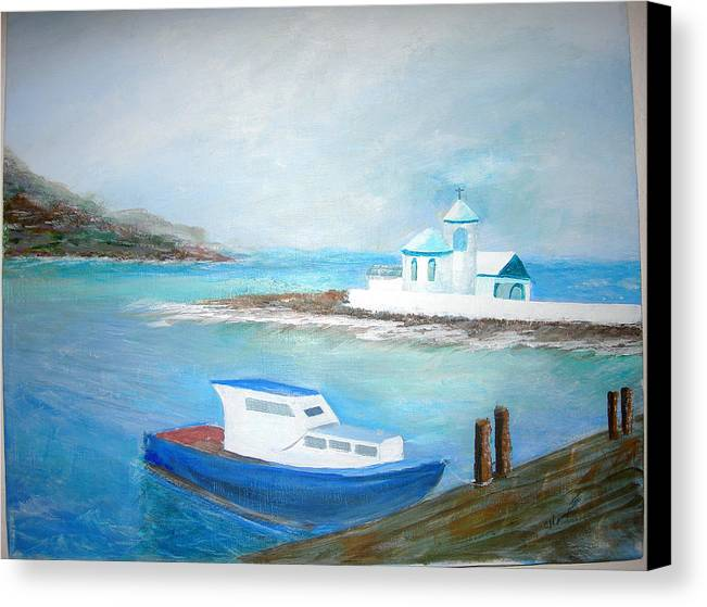 Seascape Canvas Print featuring the painting Spirit Of The Sea by Jack Hampton