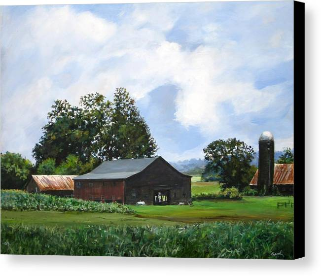 Farm Canvas Print featuring the painting Tennessee Sky by William Brody
