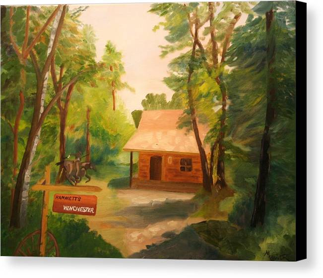 Landscape Canvas Print featuring the painting The Getaway by Marilyn Tower