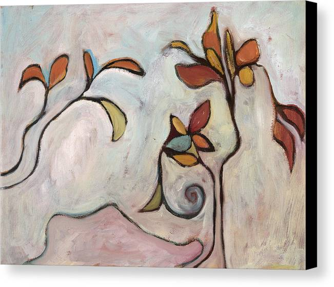 Abstract Canvas Print featuring the painting Weeds3 by Michelle Spiziri