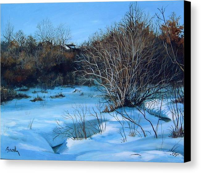 Landscape Canvas Print featuring the painting Winter by William Brody