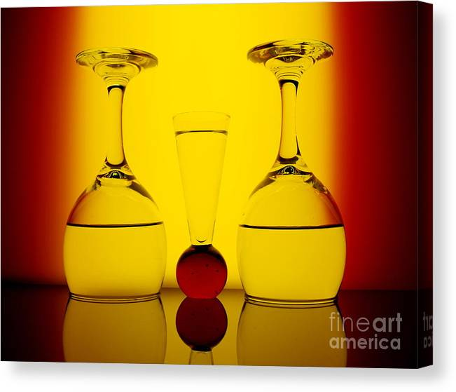Red Canvas Print featuring the photograph Red And Yellow by Trena Mara