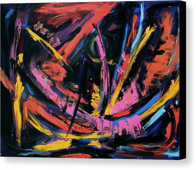 Canvas Print featuring the painting Storm Abstract by Maggis Art