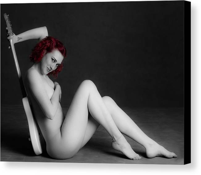 Nude Canvas Print featuring the photograph Nude Guitar 31 by Studiodreas Photography