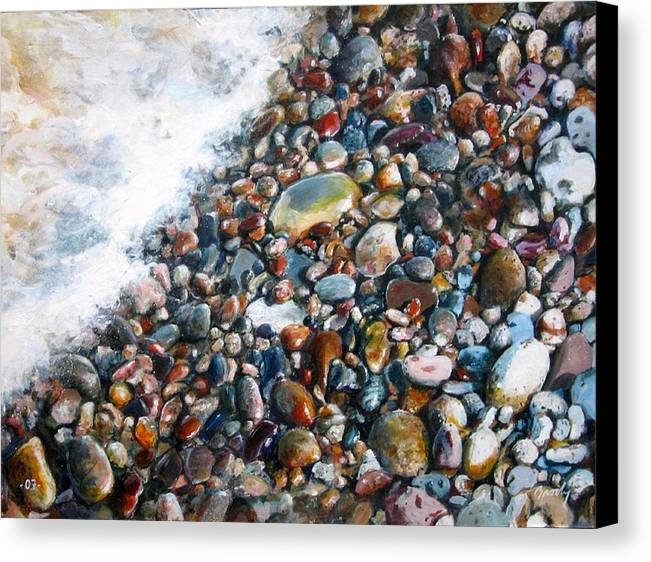 Stones Canvas Print featuring the painting A Treasure Between by William Brody