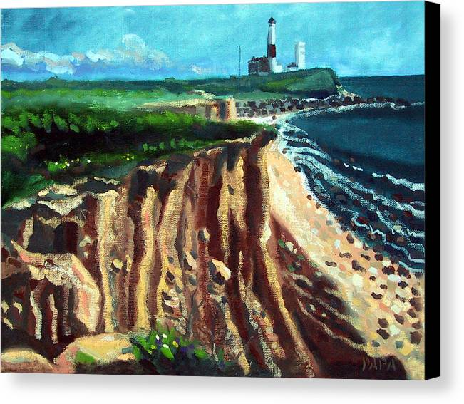 Montauk Canvas Print featuring the painting Montauk Camp Hero 04a by Ralph Papa