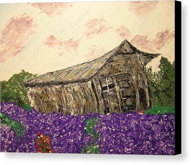Landscape Canvas Print featuring the painting Return To Serenity by Ricklene Wren