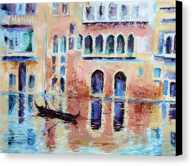Venice Canvas Print featuring the painting Venice by Jan Calderwood