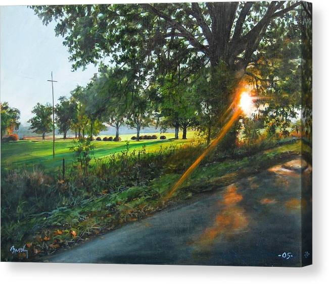 Landscape Canvas Print featuring the painting Last Cut by William Brody