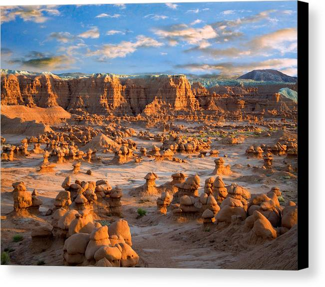 Goblin Valley State Park Canvas Print featuring the photograph Goblin Valley State Park Utah by Utah Images