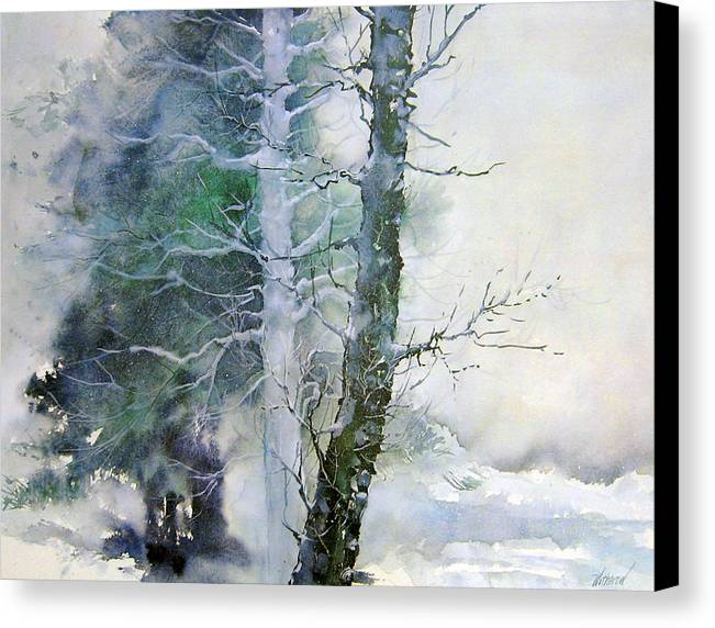 Trees Canvas Print featuring the painting Alders And Cedar by Dale Witherow